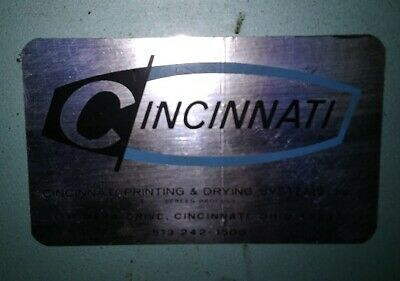"cincinnati vacuum frame exposure unit making silk screens 48"" w by 39 tall"