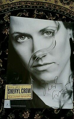 Sheryl Crow Autographed / Signed Globe Sessions Promo Cd Poster! Very Rare!!