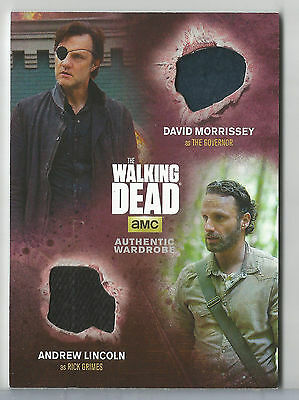2016 Walking Dead Season 4 The Governor And Rick Grimes Dual Wardrobe Relic Dm2