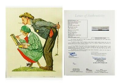 Norman Rockwell - Hayseed Critic Lithograph - Hand Signed & Framed - 25/200