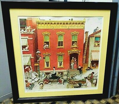 Norman Rockwell - Ford Street Was Never The Same Lithograph - Hand Signed Frame