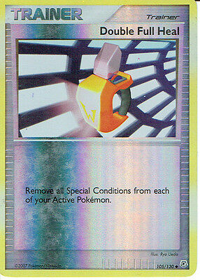Pokemon Diamond And Pearl Expansion Reverse Holo Card 105/130 Double Full Heal