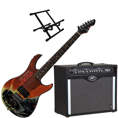 Peavey Bandit 112 Amp And Walking Dead Governor Guitar With Amp Stand