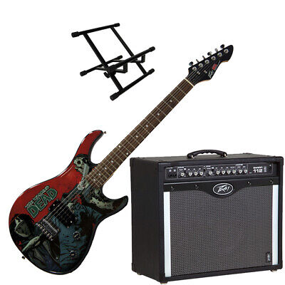 Peavey Bandit 112 Amp And Walking Dead Michonne Slash With Amp Stand