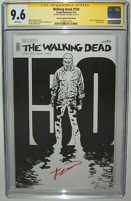 Walking Dead #150 Sketch Cover Variant Ss Cgc 9.6 Signed By Robert Kirkman