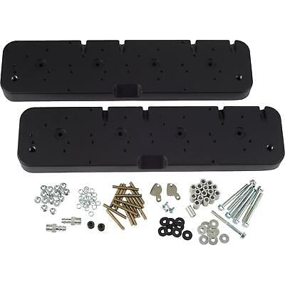 Sbc Valve Cover Adapters/coil Covers For Ls V8, Black