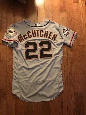 2018 Giants Pirates Andrew Mccutchen Game Used Worn Mother