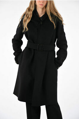 Rick Owens Women Coats And Trench Coats Virgin Wool Blend Liner Coat Black