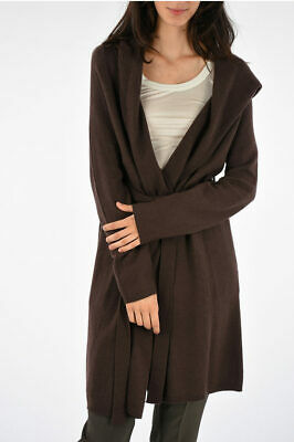 Rick Owens Women Coats And Trench Coats Cashmere Coat Raisin  Brown