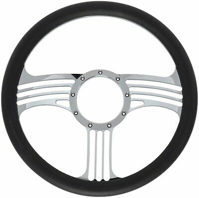 Jegs Performance Products 70425 Chrome-plated Billet Aluminum 14 Steering Wheel