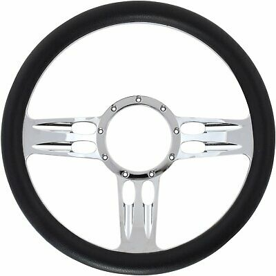 Jegs Performance Products 70424 Chrome-plated Billet Aluminum 14 Steering Wheel