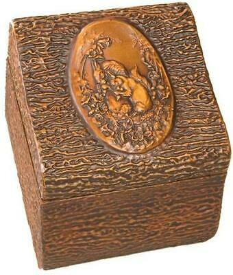 Box Mountain Rustic Squirrel Scene Lidded Hinged Resin New Hand-cast Reli