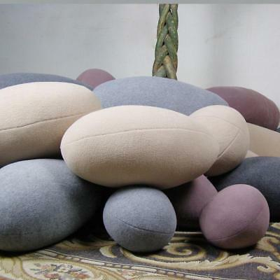 Stones Shape Bean Bags Throw Pillow 6pcs Alive Xmas Chair Bed Lounger Soft Gifts