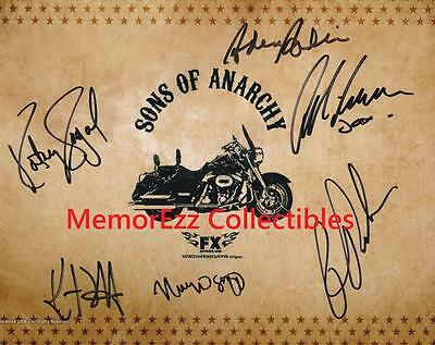 Sons Of Anarchy Ron Perlman / Katey Sagal +4 Signed Autographed 8x10 Color Photo