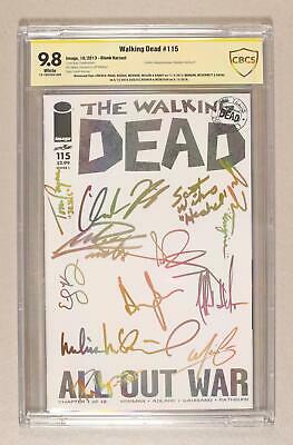 Walking Dead #115l Cover L Blank Variant Cbcs 9.8 Ss 2013