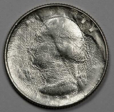 Pcgs Ms64 Struck Thru Cloth Silver Quarter Mint Error Extremely Rare Silver Type