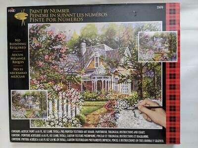 Plaid Paint By Numbers 21676 - Victorian Cottage .50.8 X 40.6cm (20 X 16 In) Nos