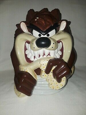 Vintage Looney Tunes Gibson Housewares Tazmanian Devil Taz Cookie Jar 1999