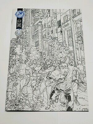 Clone #1 (skybound 2015) Black&white Sdcc 5th Anniversary Exclusive Variant Nm