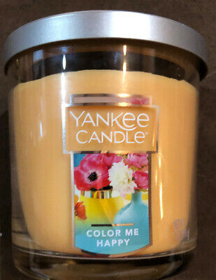 1 Yankee Candle Color Me Happy Scented Candle Small Tumbler Jar 7 Oz