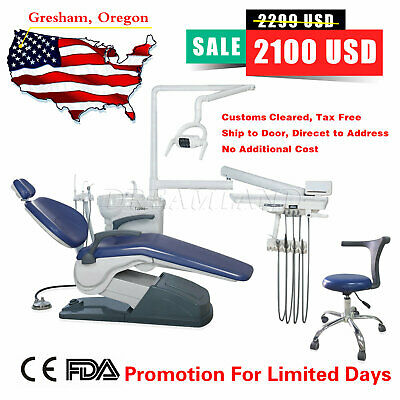 Fda Approved Dental Chair & Stool Computer Control Hard Leather Ship To Office