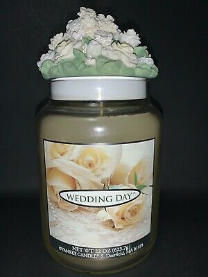 Yankee Candle Wedding Day 22oz Bouquet Of Roses Lid Rare Hard To Find Retired.