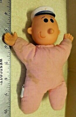 "Vintage King Features 1979 Uneeda Popeye ""sweet Pea"" Plush Doll Figure  Guc"