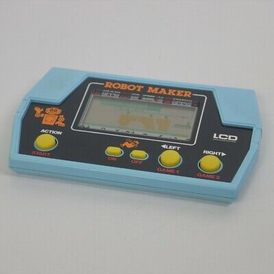 LCD ROBOT MAKER Handheld Game Takatoku Toys Game Watch Tested Ref 0832