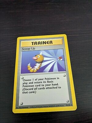 Base set Scoop Up rare trainer Pokemon card