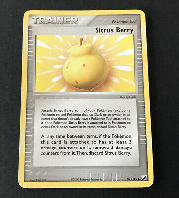 Sitrus Berry - 91/115 - Uncommon NM Unseen Forces Pokemon TCG Card (P474)