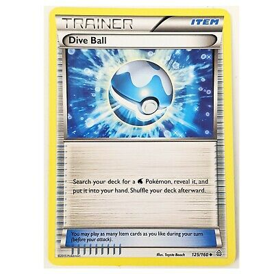 XY Primal Clash Pokemon Card: Dive Ball 125/160