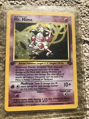 Mr. Mime 1st Edition 6/64 Jungle Set Holo 1999 Pokemon Card