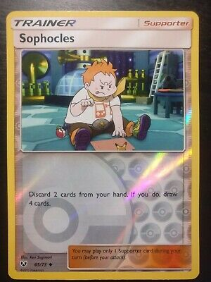 Pokemon TCG SM Burning Shadows - Sophocles 65/73 Reverse Holo Supporter - NM