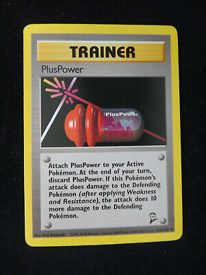 Pokemon Card: Trainer PLUSPOWER - #113/130 Base Set 2 - Non-Holo Uncommon - NM