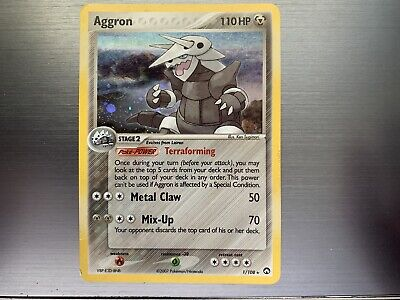 Aggron Power Keepers Holo Pokemon Card 1/108 2007