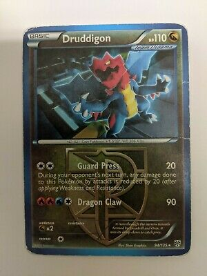Druddigon 94/135 Rare Plasma Storm Pokemon Card DMG!!!
