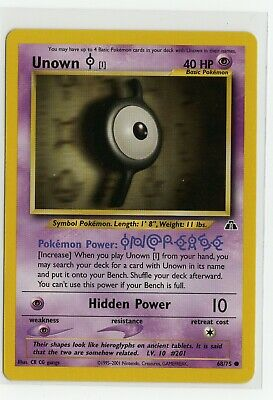 """Pokemon Trading Card Game Card UNOWN """"I"""" 68/75 Neo Discovery 