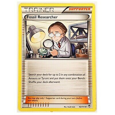 XY Furious Fists Pokemon Card: Fossil Researcher 92/111