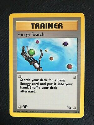 Pokemon Cards: 1st Edition Fossil Common: Energy Search 59/62