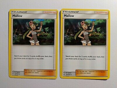 Pokemon Cards ×2 Trainer Mallow 127/145 Guardians Rising Uncommon NM /VLP