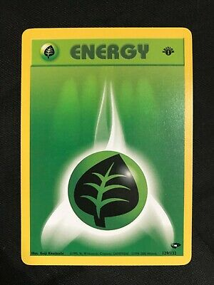 Pokemon Cards: Gym Challenge 1st Edition Common: Grass Energy 129/132