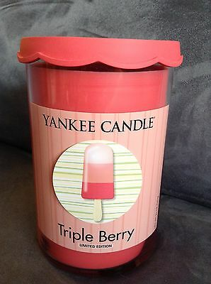 Yankee Candle Triple Berry Double Wick 22 Oz Jar Candle - Limited Edition - New
