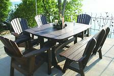 "Perfect Choice Furniture - Dining Table - 56"" With 6 Adirondack Chairs"