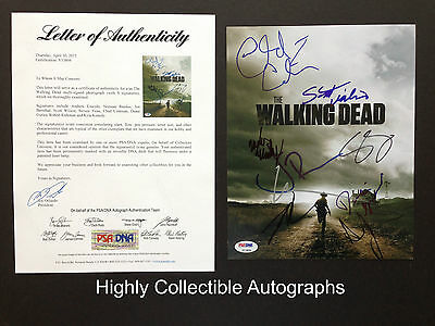 The Walking Dead Cast 9 Signed 8x10 Photo Psa Coa Andrew Lincoln Norman Reedus