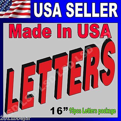 """16"""" 15pcs Package Led Frontlit Channel Letters Store Sign,super Quality W/driver"""