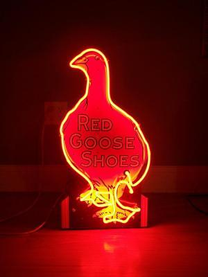 Red Goose Shoes Neon  & Porcelain Sign