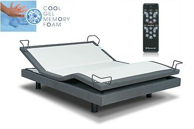 "Reverie 7s Adjustable Bed W/ Yr Choice Of 10""or12"" Cool Gel Mattresses*all Sizes"
