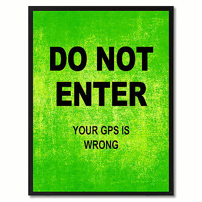 Do Not Enter Funny Sign Green Print On Canvas Picture Frames Home Decor Wall Art