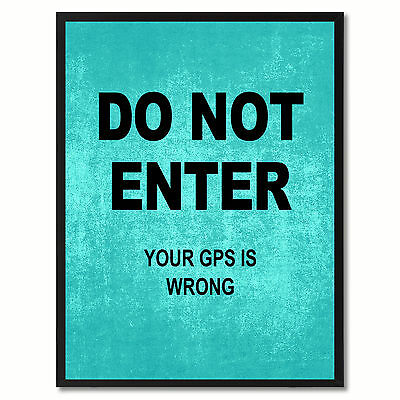 Do Not Enter Funny Sign Aqua Print On Canvas Picture Frames Home Decor Wall Art