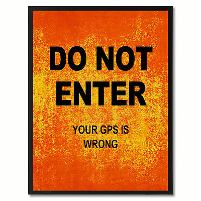 Do Not Enter Funny Sign Orange Print On Canvas Picture Frames Home Decor Wall Ar